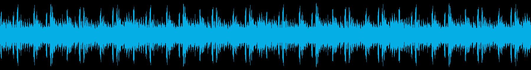 シンセサイザーと8ビットサウンドを...の再生済みの波形