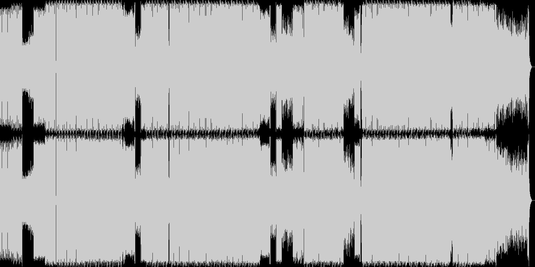 ギターリフが特徴的な曲の未再生の波形