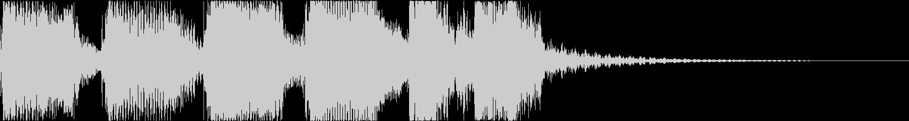 上昇するファンクロックジングルの未再生の波形