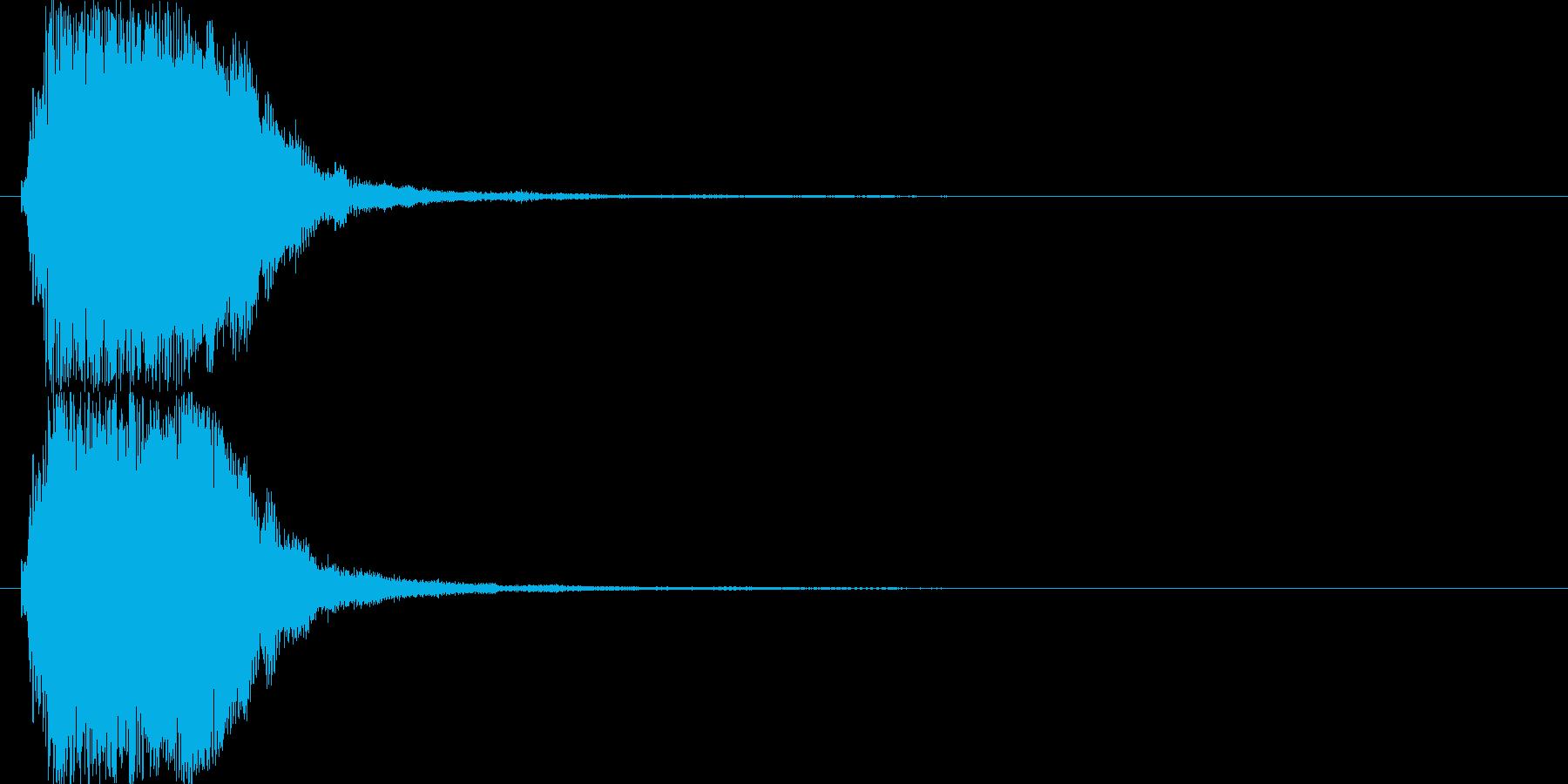 上昇系の効果音です。『ザララララン』の再生済みの波形