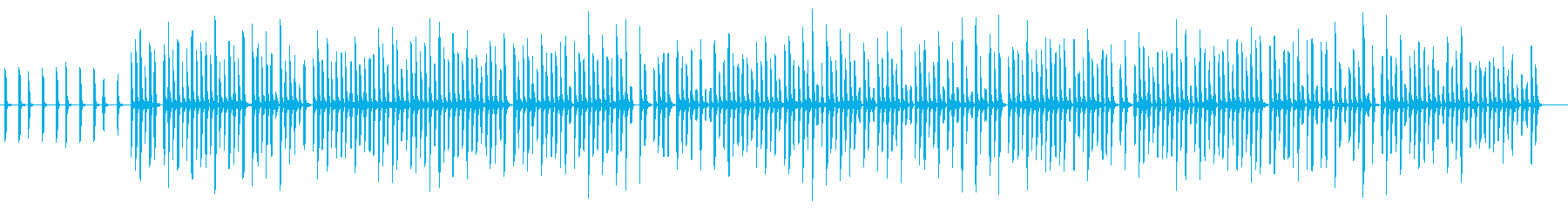 ランダムな口笛みたいな曲・コード進行の再生済みの波形