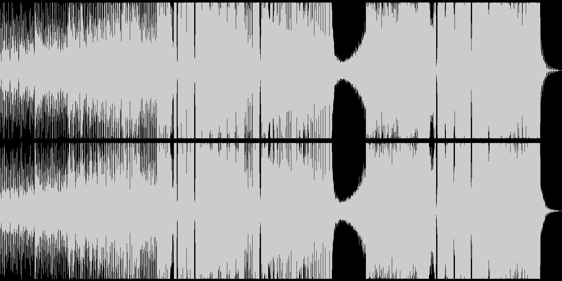 和風でダークなエレクトロの未再生の波形