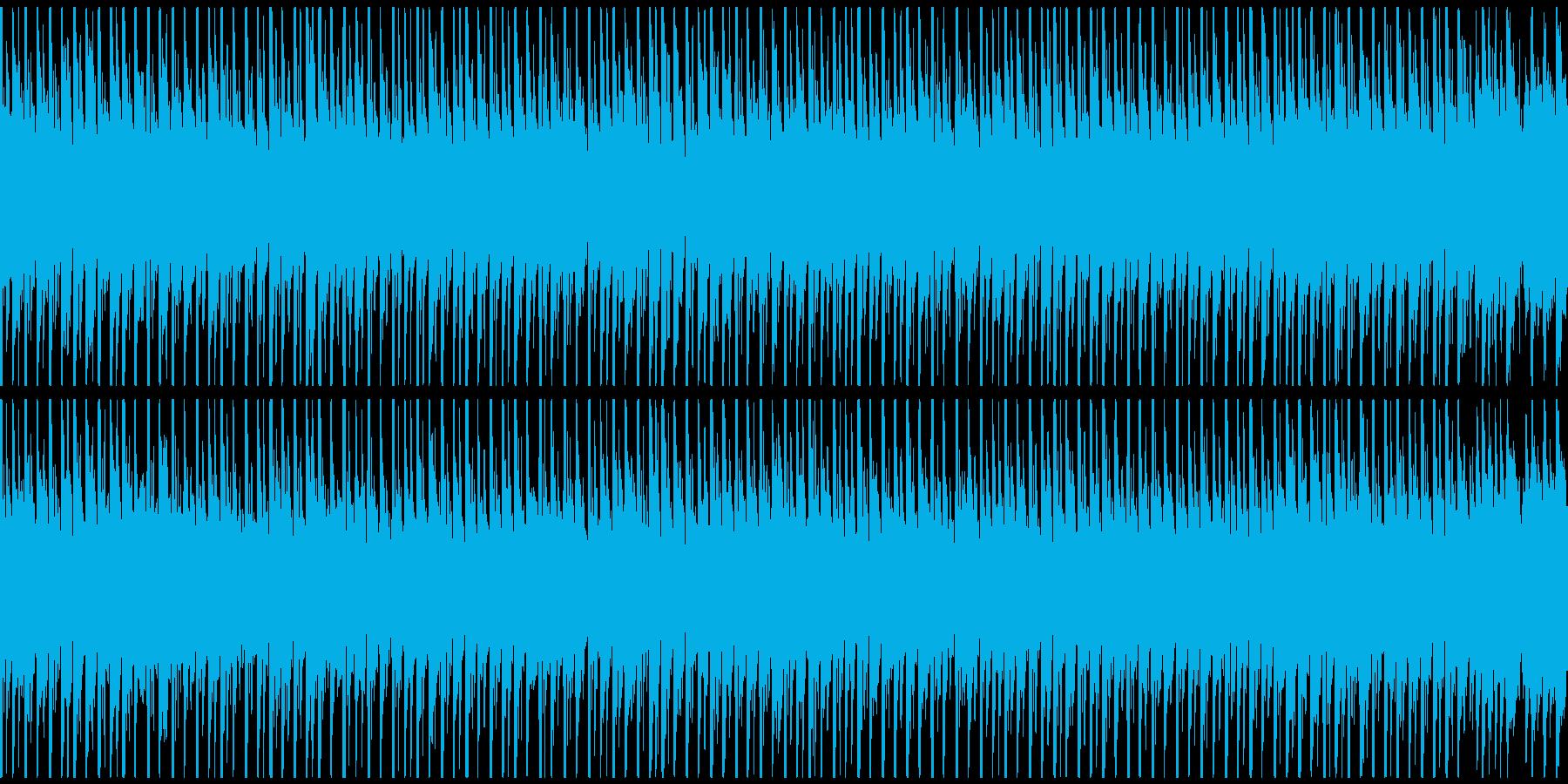 ダンスパーティーミュージック(ループ)の再生済みの波形