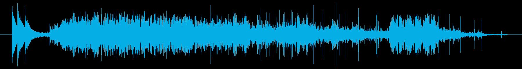 正解の鐘と歓声の再生済みの波形