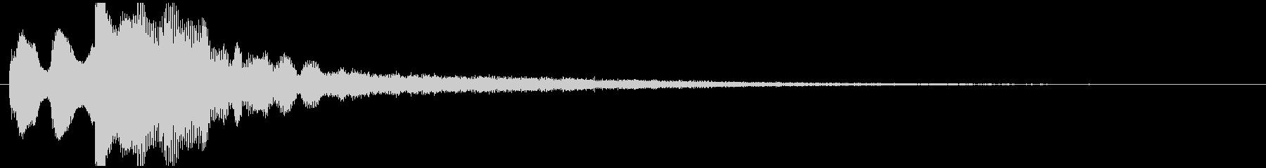 起動音 シンプル クール システムオン2の未再生の波形
