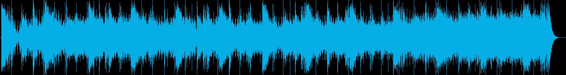 近未来的なシンセサイザー打楽器サウンドの再生済みの波形