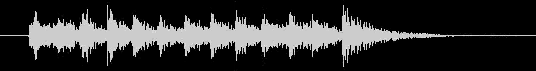 生録音ピチカート&ピアノの軽快な場面転換の未再生の波形