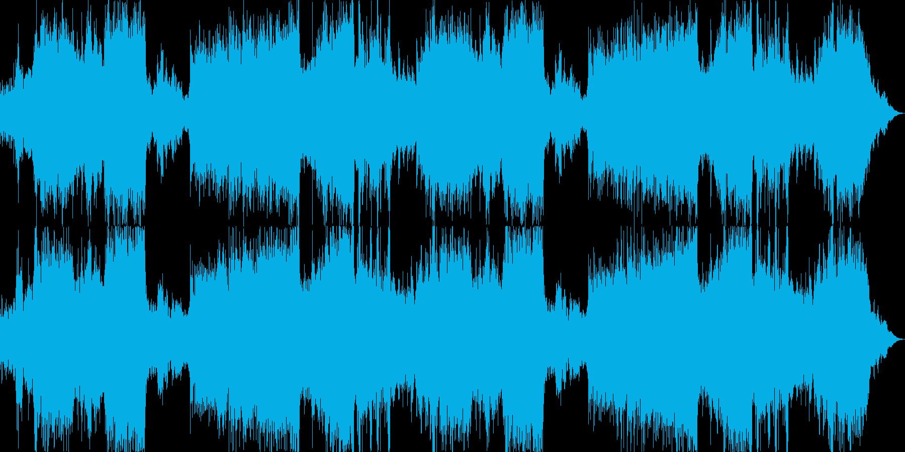 電子音の入り混じった勇壮なオーケストラの再生済みの波形