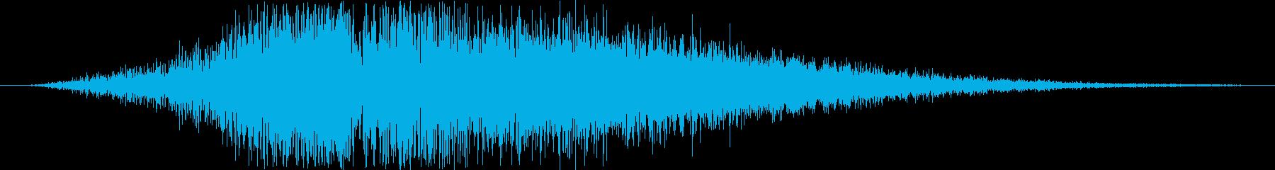 スローモーションの空振りの再生済みの波形