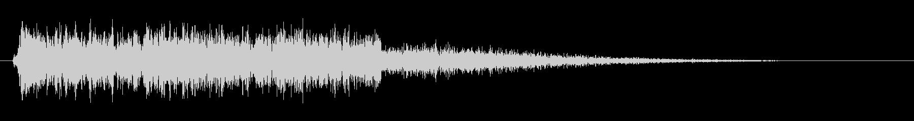 シュシュシュー(電子風切り音)の未再生の波形