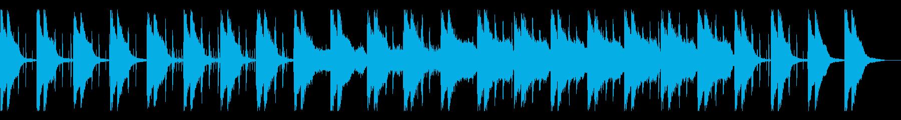 しんみり静かなローファイヒップホップの再生済みの波形