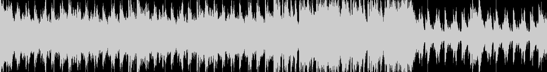 戦闘後のリザルト画面での曲の未再生の波形
