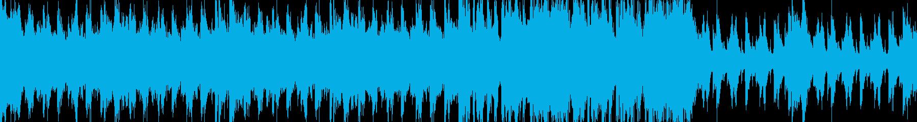 戦闘後のリザルト画面での曲の再生済みの波形