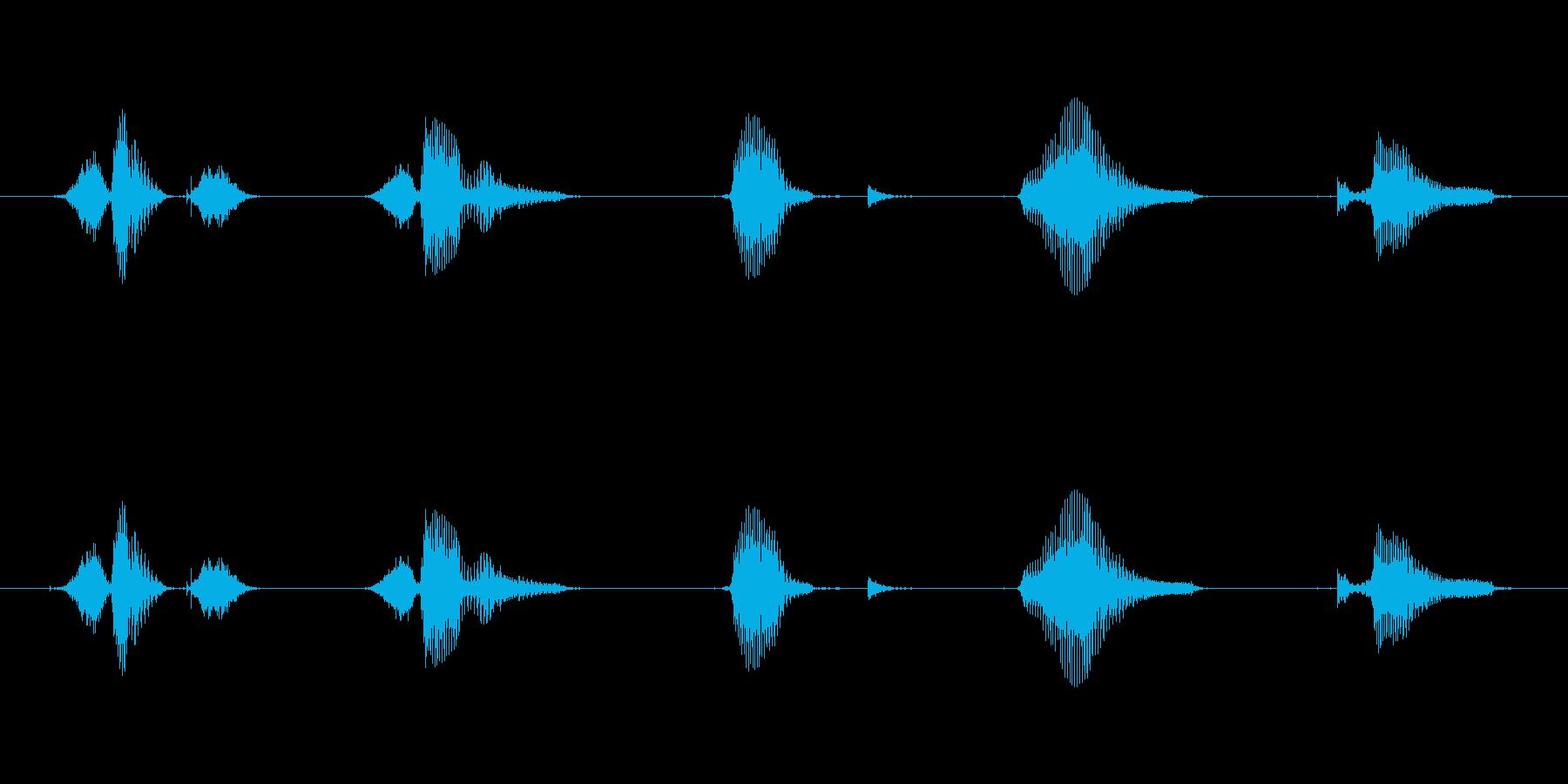 英数字6~10男性スタンダードの再生済みの波形
