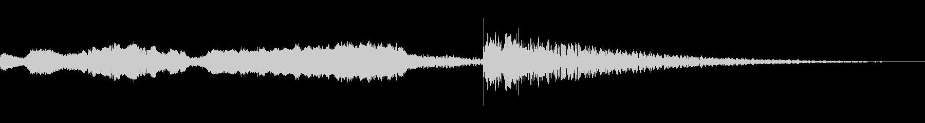 篠笛、太鼓、琴、鈴の和風ジングル(6秒)の未再生の波形