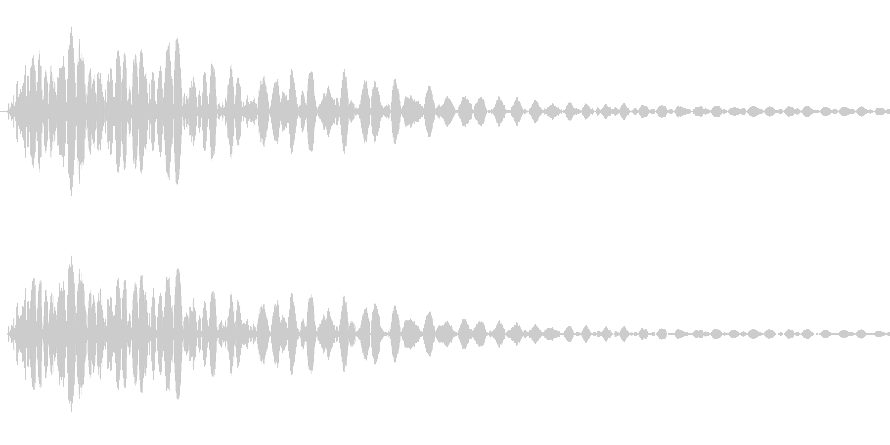 [効果音]壁ドン、打撃の未再生の波形