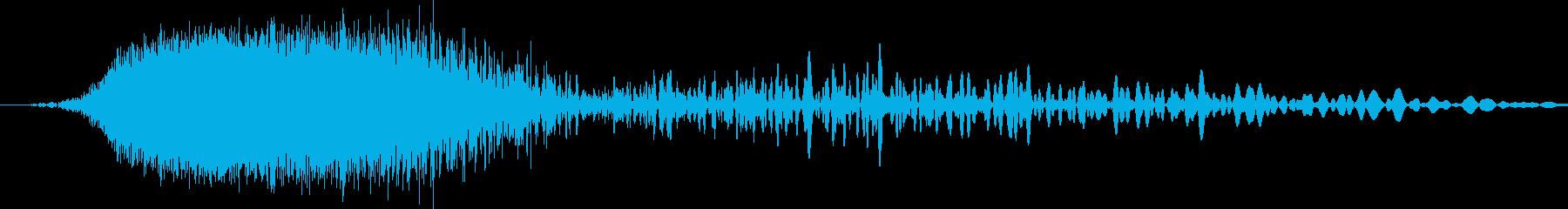 しゅーわおんと言う感じのノイズです。の再生済みの波形