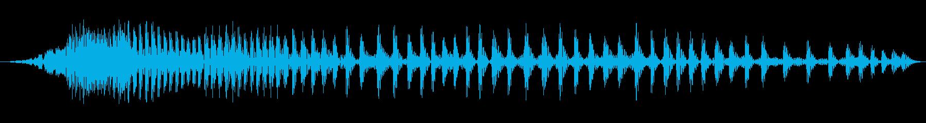 ぐぅ〜(お腹が鳴る音) の再生済みの波形