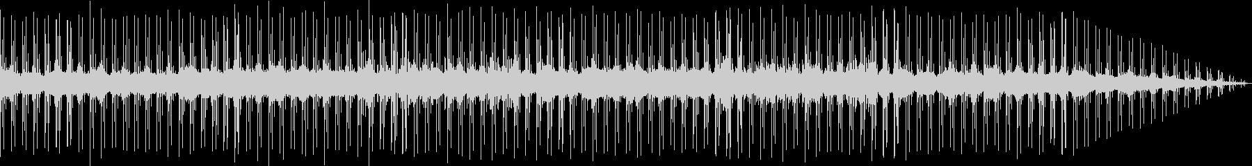 寂しげなテクノ音楽の未再生の波形