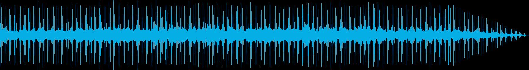 寂しげなテクノ音楽の再生済みの波形