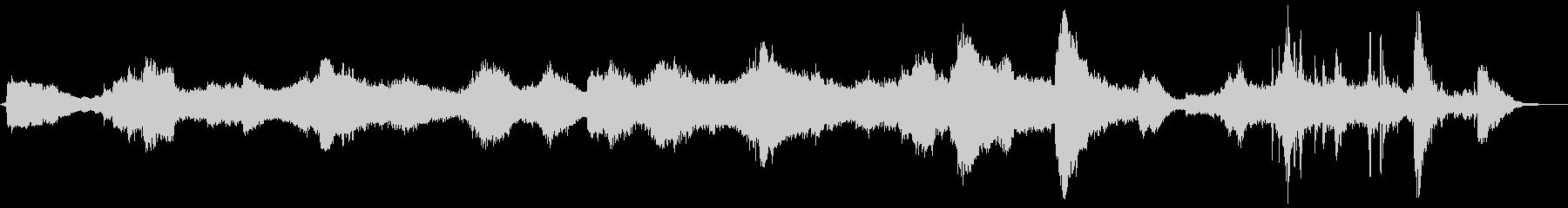 ホラーシーン向けのノイズアンビエントの未再生の波形