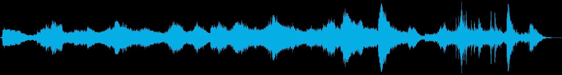 ホラーシーン向けのノイズアンビエントの再生済みの波形