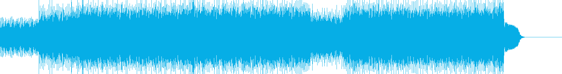 攻撃的なブレイクビーツロックの再生済みの波形