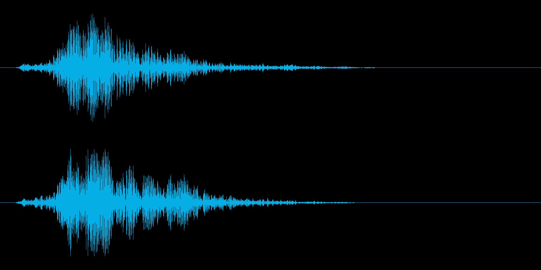ヒュン(剣などを振るう風切り音)の再生済みの波形