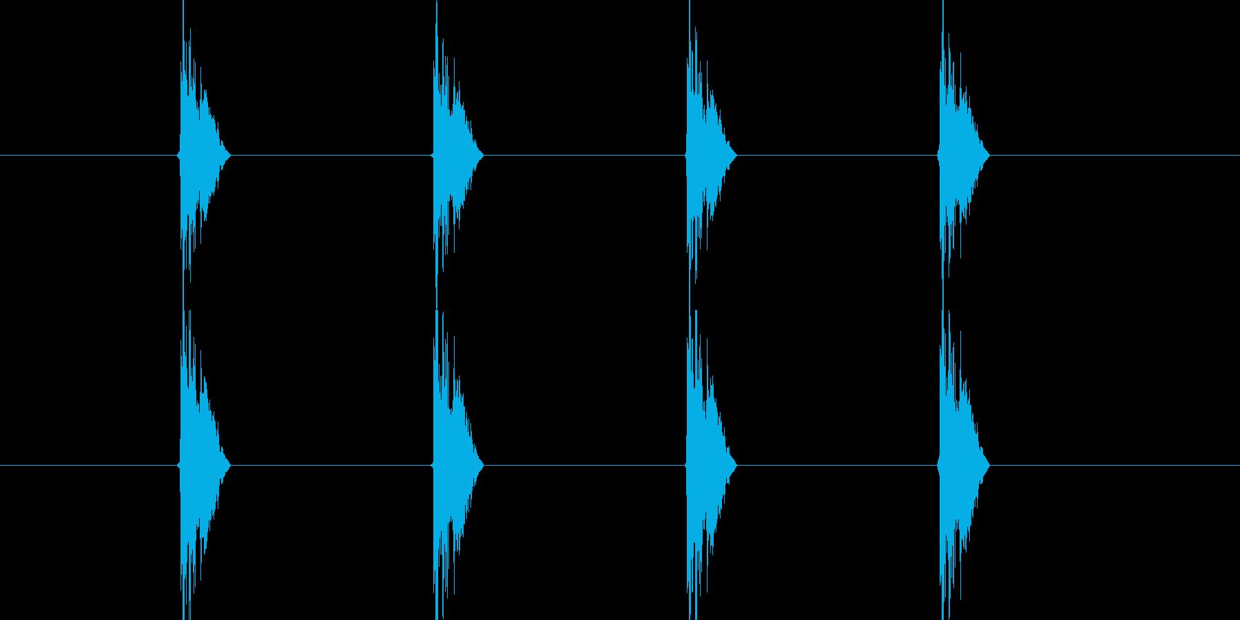 チッチッチッチッ(タンバリンの音)の再生済みの波形