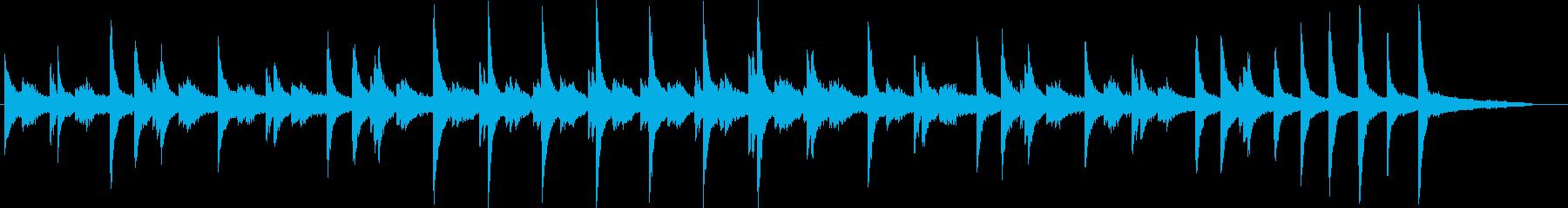とても美しく魅惑的な和声のピアノバラードの再生済みの波形