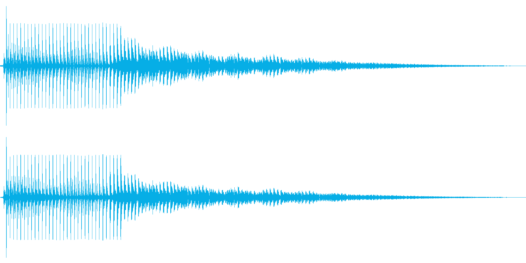 びよよ~ん(バネが弾む)の再生済みの波形