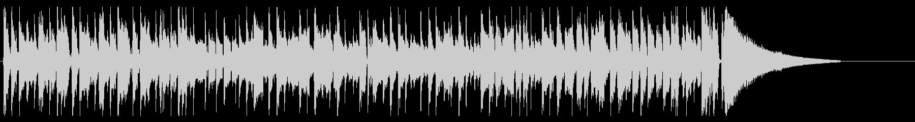 ポップなロカビリーOP,ED向けBGMの未再生の波形