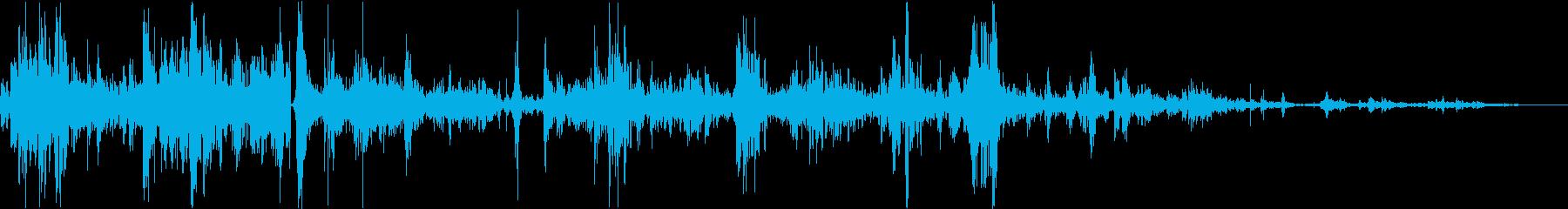 水面/バシャバシャ/ジャブジャブの再生済みの波形