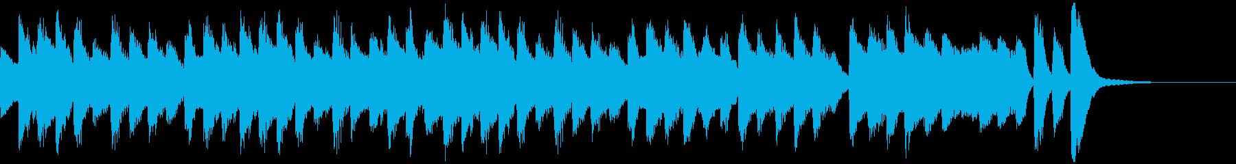 ほのぼのした雰囲気のワルツの再生済みの波形