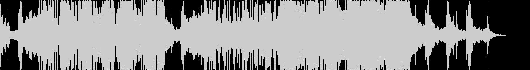 荒々しいパーカッションメインの電子音楽の未再生の波形