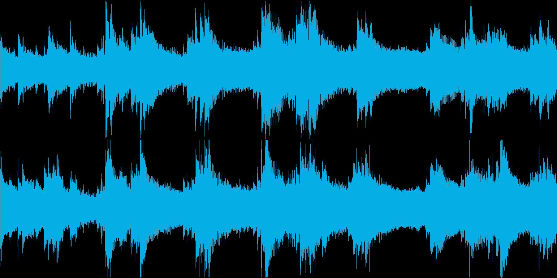 ミステリアスで不穏なピアノアンビエントの再生済みの波形