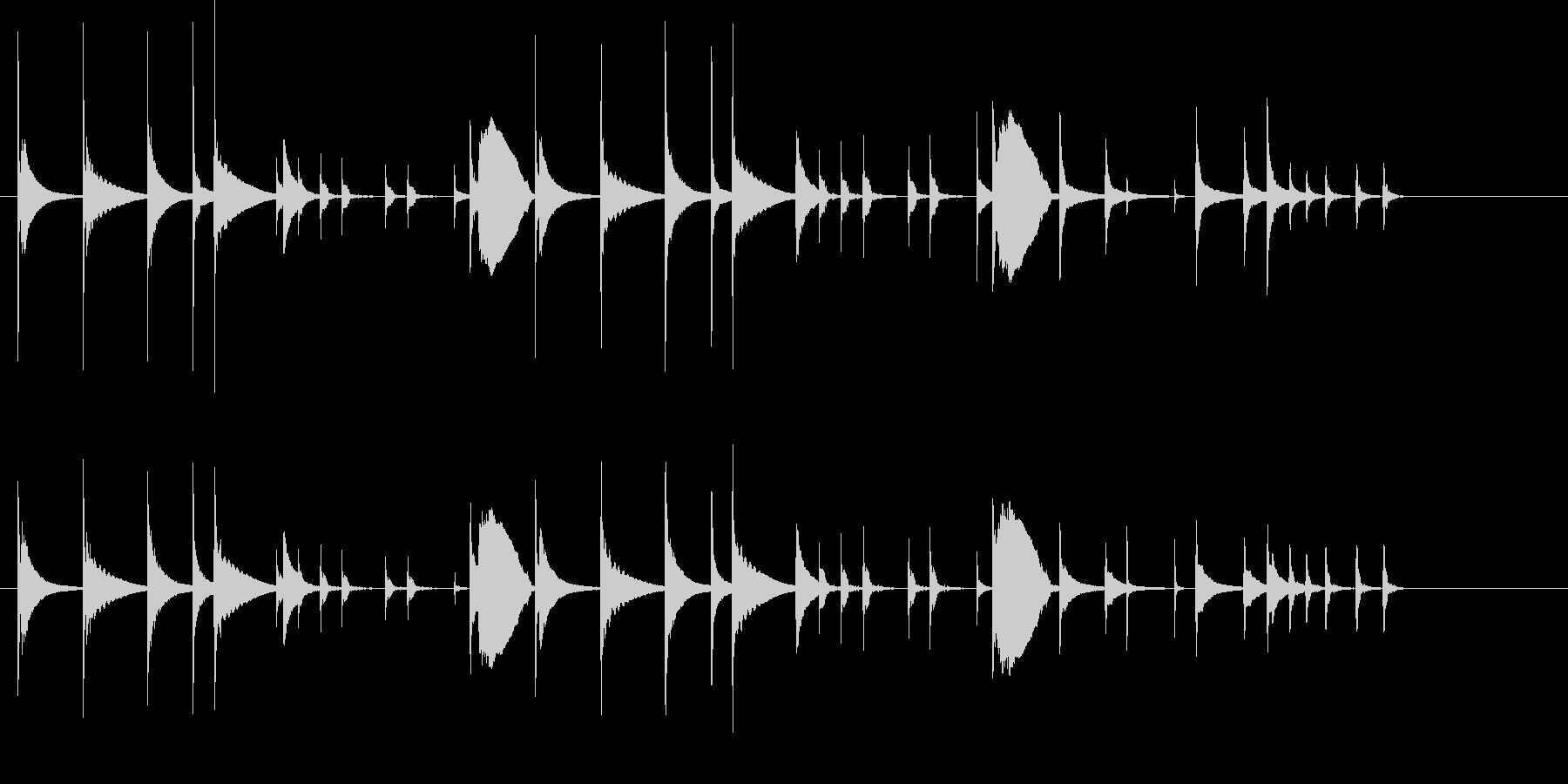 おとぼけ かわいい コミカル ジングルの未再生の波形