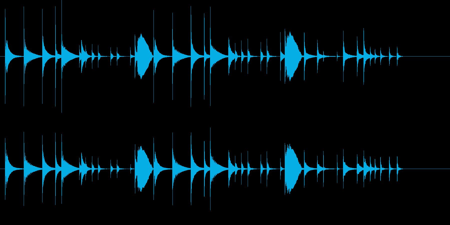 おとぼけ かわいい コミカル ジングルの再生済みの波形