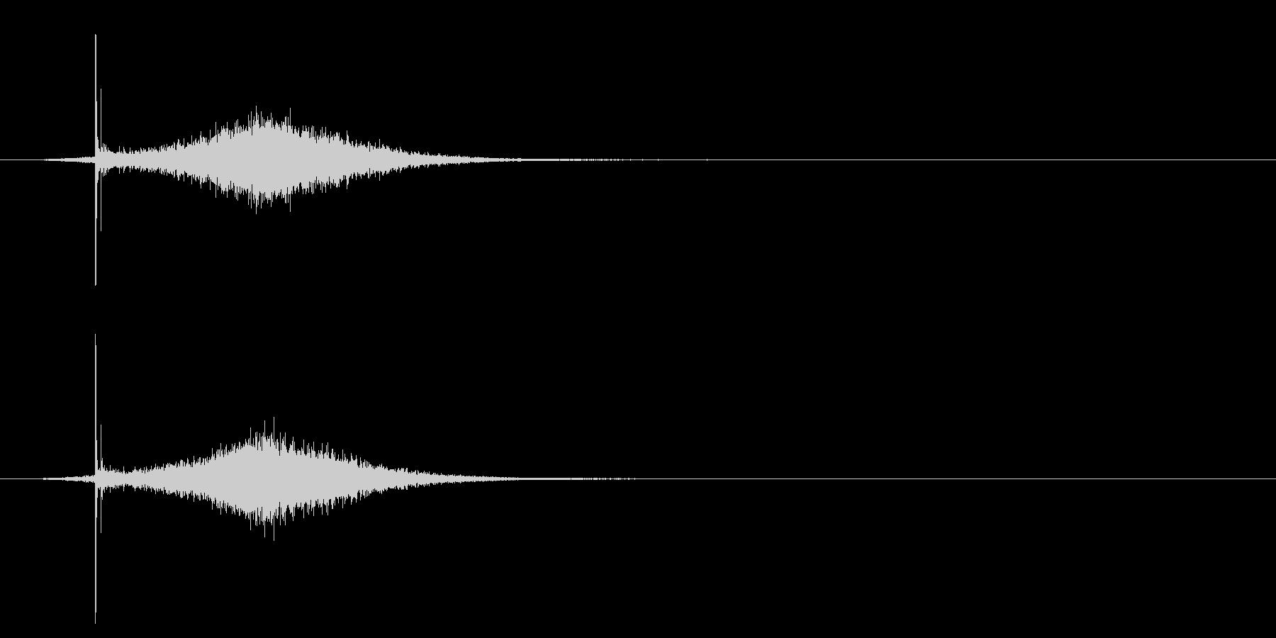 コトッ/置く/シュイン/光る/の未再生の波形