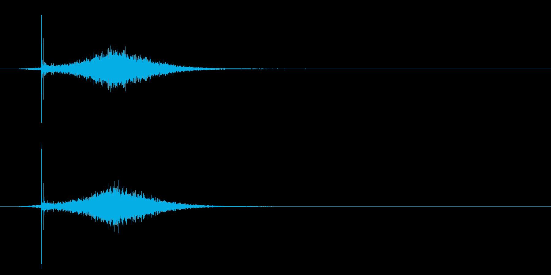 コトッ/置く/シュイン/光る/の再生済みの波形