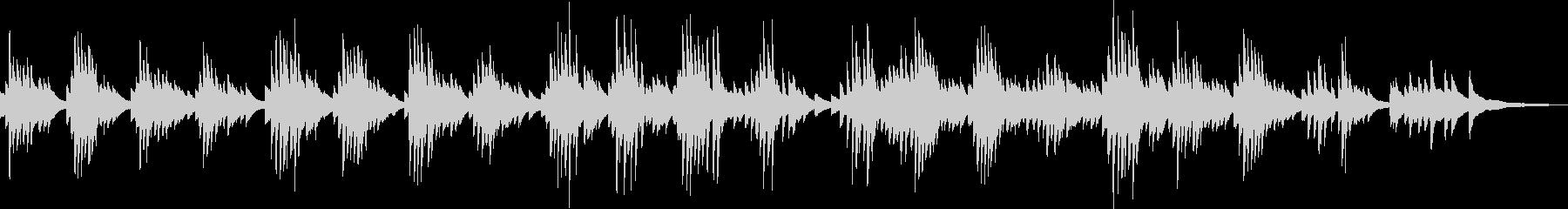 切ないピアノバラード(哀愁・都会)の未再生の波形