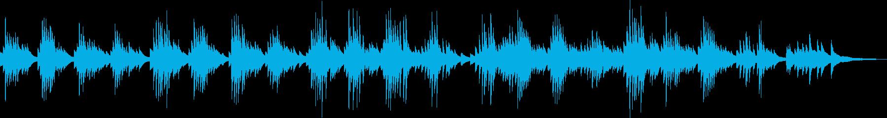 切ないピアノバラード(哀愁・都会)の再生済みの波形