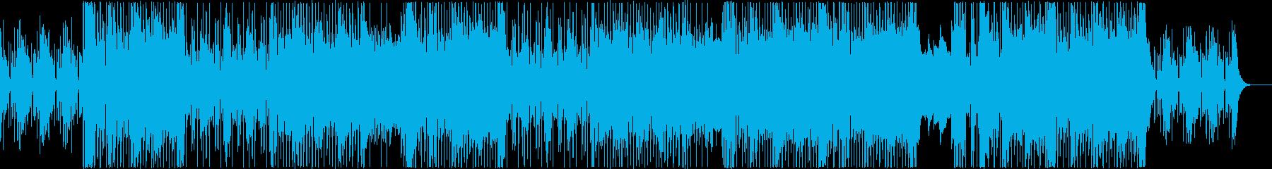 R&B/ゴスペル調BGMの再生済みの波形