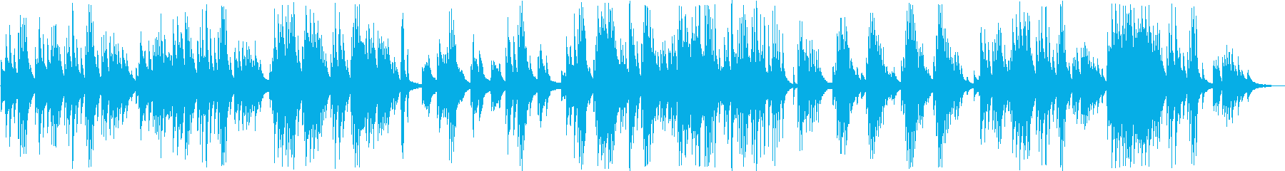 ゆったりと静かなピアノバラードの再生済みの波形