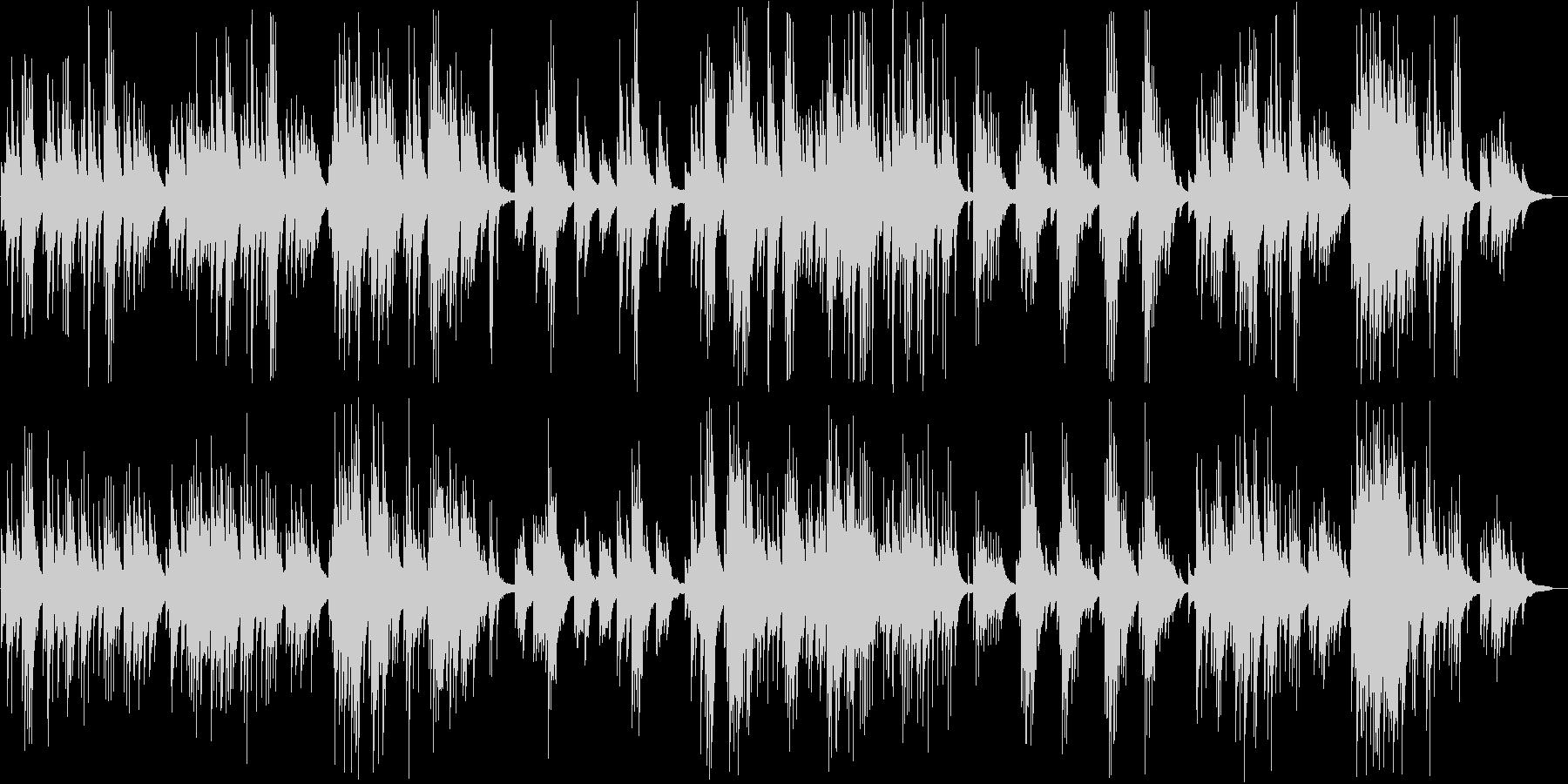 ゆったりと静かなピアノバラードの未再生の波形