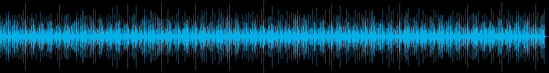 ちょっとマイナーなラテン風の曲の再生済みの波形