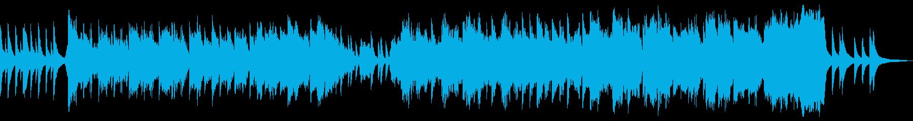 神聖な森のイメージの再生済みの波形