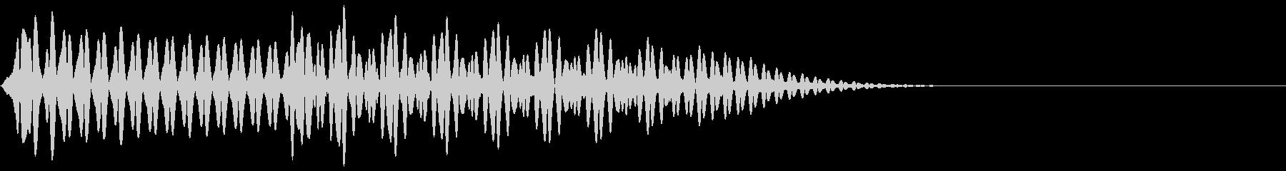 ピコッ(ボタン、決定、クリック、タッチ)の未再生の波形