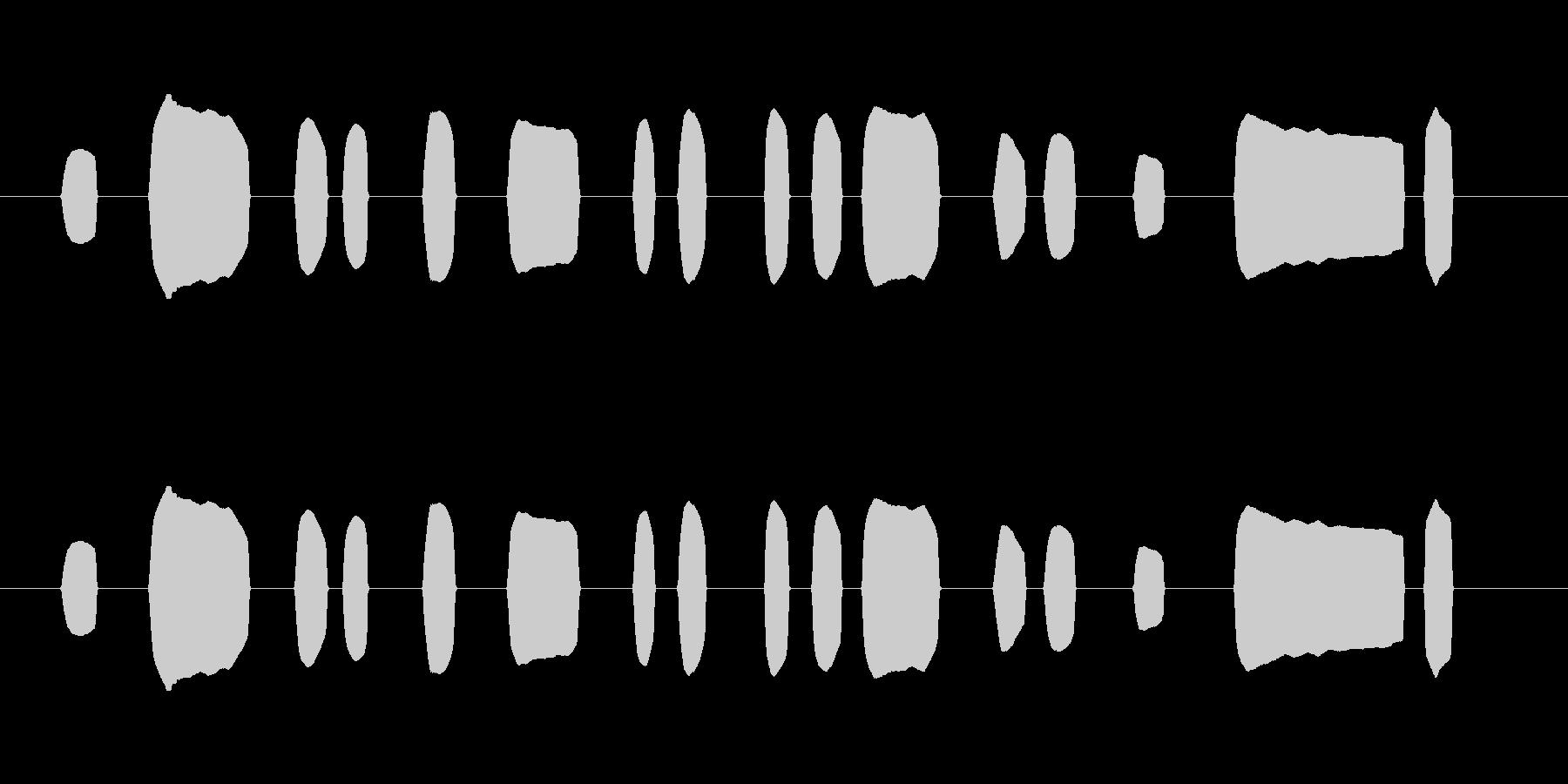 「蛍の光」の一節を下手に吹いたリコーダーの未再生の波形
