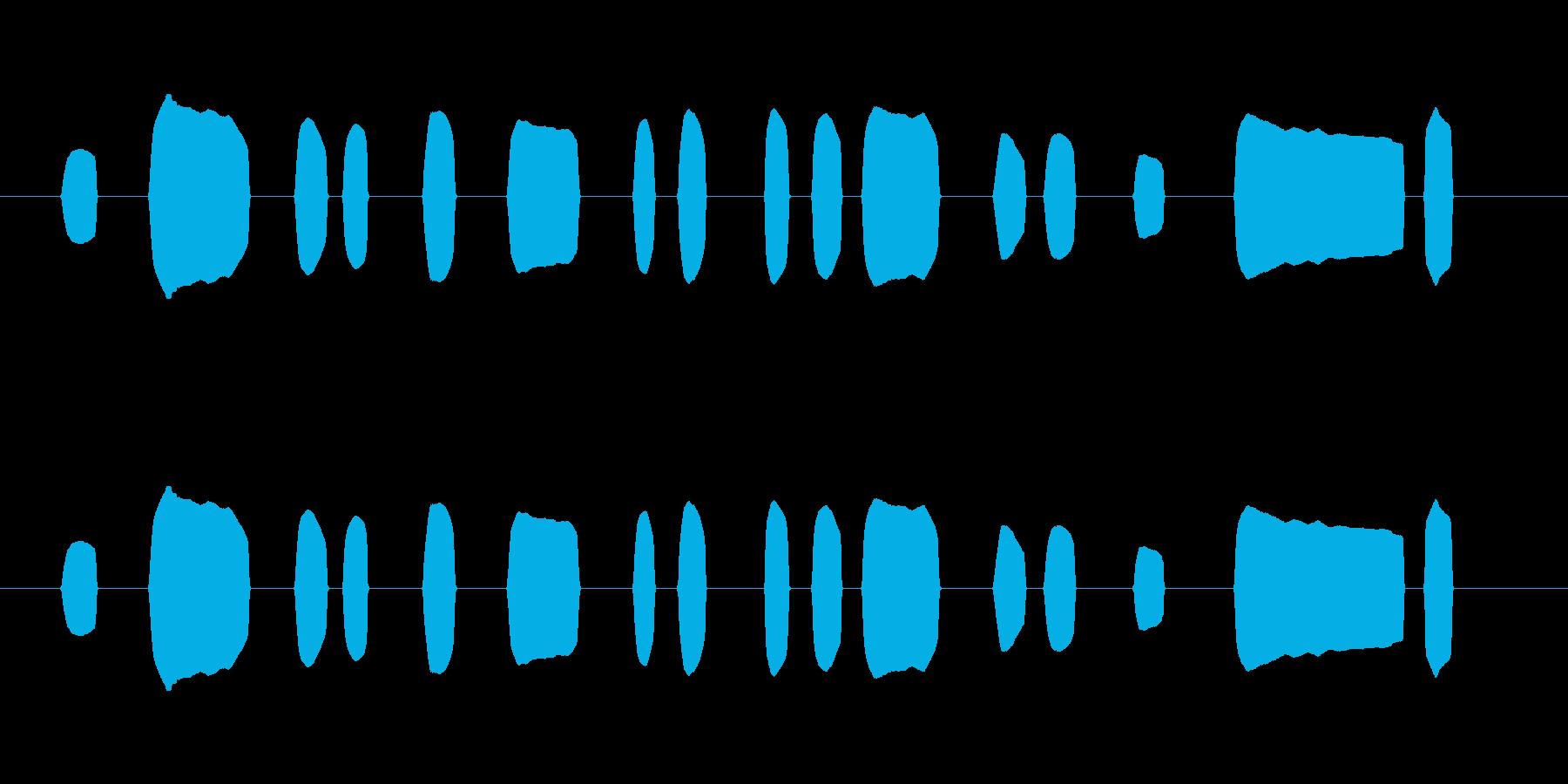 「蛍の光」の一節を下手に吹いたリコーダーの再生済みの波形